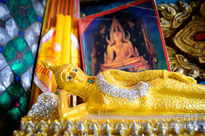 Photograph - Reclining Buddha by Dean Harte
