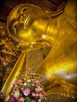 Sleeping Buddha Photograph - Reclining Buddha by Kim Andelkovic