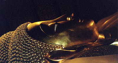Art Print featuring the photograph Reclining Buddha by Mary Bedy