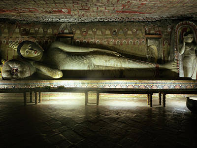 Buddha Image Photograph - Reclining Buddha Statue In Cave IIi by Panoramic Images