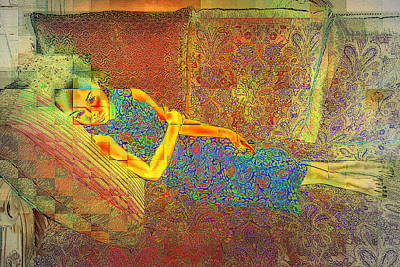 Photograph - Reclining by Jodie Marie Anne Richardson Traugott          aka jm-ART