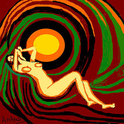 Reclining Nude Art Print by Anand Swaroop Manchiraju