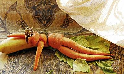 Carrot Photograph - Reclining Nude Carrot by Sarah Loft