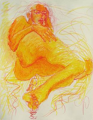 Painting - Reclining Nude by Elizabeth Parashis