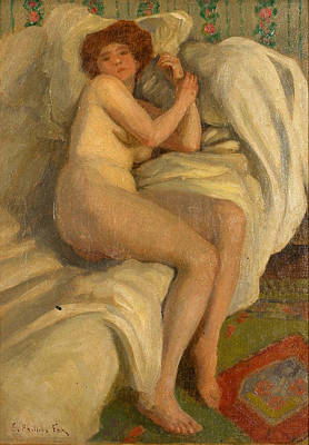 Painting - Reclining Nude by Emanuel Phillips Fox