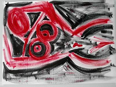 Painting - Reclining Nude In Red And Black by Cleaster Cotton