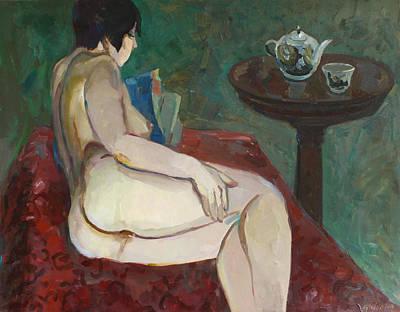 Painting - Reclining Nude by Juliya Zhukova