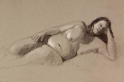Painting - Reclining Nude by Pablo Rivera