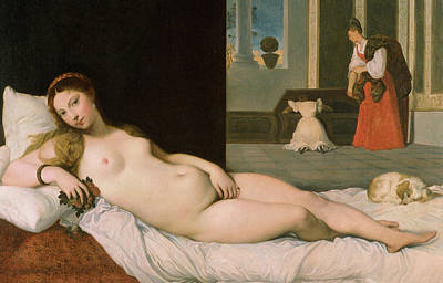 Titian Painting - Reclining Venus by Ingres