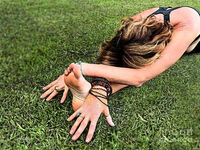 Photograph - Reclining Yogini 2 by Sally Simon