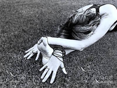 Photograph - Reclining Yogini by Sally Simon