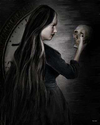 Victorian Era Digital Art - Recognition Of Death by Lourry Legarde