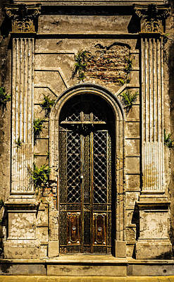 Print featuring the photograph Recoleta Crypt Door by Rob Tullis