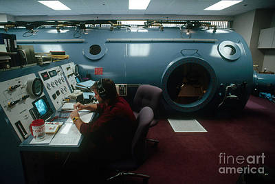 Recompression Chamber Art Print by Gregory G. Dimijian, M.D.