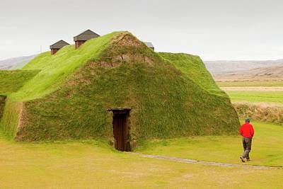 Reconstruction Photograph - Reconstructed Viking Long House by Ashley Cooper