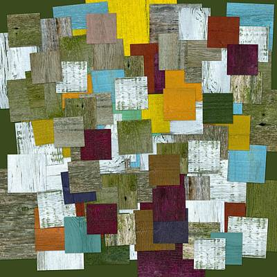 Mixed Media - Reconstructing Fences L  by Michelle Calkins