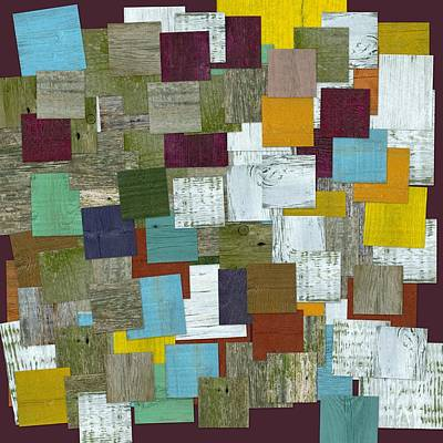 Color Block Mixed Media - Reconstructing Fences Ll by Michelle Calkins