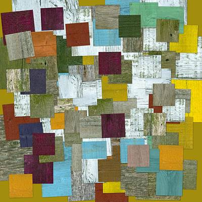 Mixed Media - Reconstructing Fences Lll by Michelle Calkins