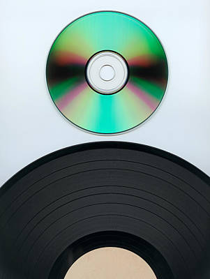 Photograph - Record And Cd by Marek Poplawski