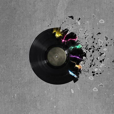 Record Art Print by Mark Ashkenazi