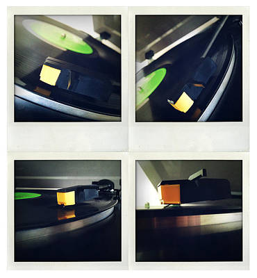 Turntable Photograph - Record Player by Les Cunliffe