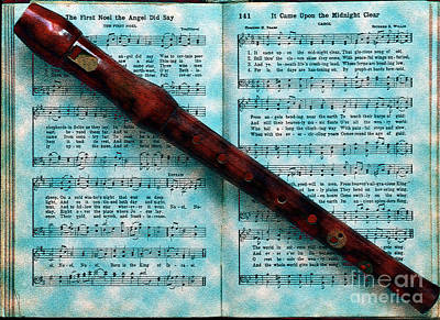 Recorder And Christmas Art Print by Lydia Holly