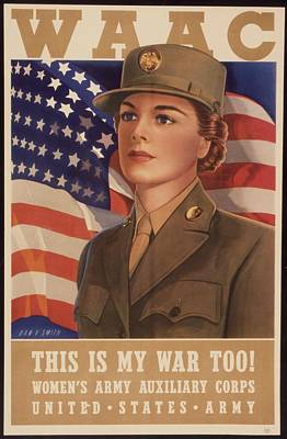 Recruiting Photograph - Recruiting Poster For The Womens Army by Everett