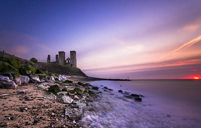 Kent Photograph - Reculver Sunset by Ian Hufton