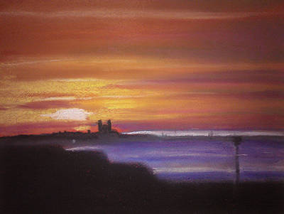Reculver Sunset Art Print by Paul Mitchell