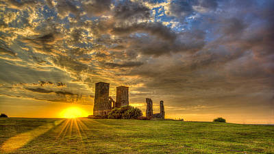 Reculver Towers Kent Sunset Art Print