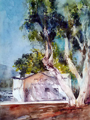 Nature Center Painting - Recycle Under Eucalyptus by Rose Sinatra