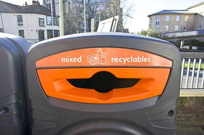 Recycling Bin Art Print by Tom Gowanlock