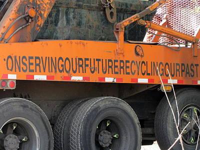 Photograph - Recycling Truck Rust 1 by Anita Burgermeister