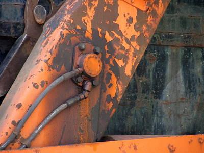 Photograph - Recycling Truck Rust 2 by Anita Burgermeister