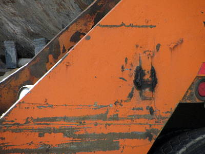 Photograph - Recycling Truck Rust 3 by Anita Burgermeister