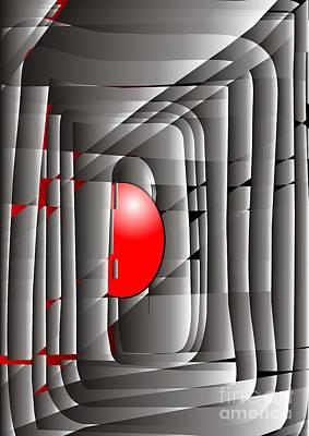 Digital Art - Red 073 Marucii by Marek Lutek