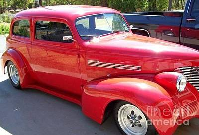 Photograph - Red 1938 Chevy by Janette Boyd