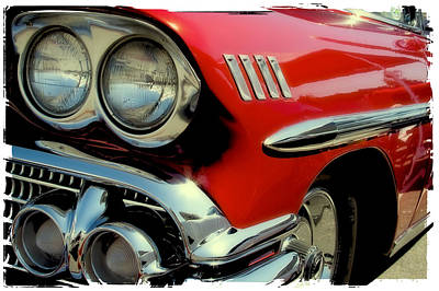 Popstar And Musician Paintings Royalty Free Images - Red 1958 Chevrolet Impala Royalty-Free Image by David Patterson