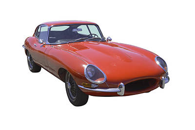 Photograph - Red 1964 Jaguar Xke Antique Sportscar by Keith Webber Jr