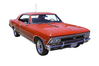 Red 1966 Chevy Chevelle Ss 396 Art Print by Keith Webber Jr