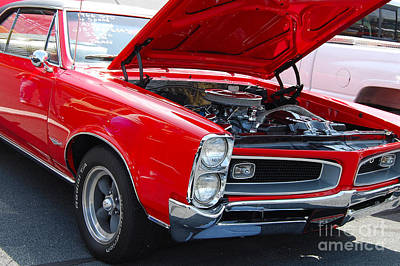 Muscle Car Photograph - Red 1966 Gto by Mark Spearman
