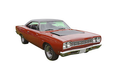 Photograph - Red 1968 Plymouth Roadrunner Muscle Car by Keith Webber Jr