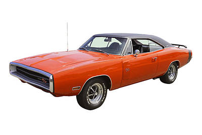 Photograph - Red 1970 Dodge Charger R/t Muscle Car by Keith Webber Jr