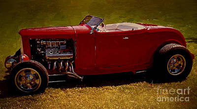 Mixed Media - Red 32' Coupe by Jerry L Barrett