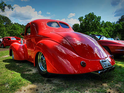 Sports Cars Photograph - Red '41 Willys Coupe 003 by Lance Vaughn