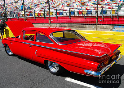 Photograph - red '59 Chevy Impala by Mark Spearman