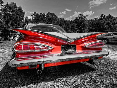 Classic Car Photograph - Red '59 Impala 002 by Lance Vaughn