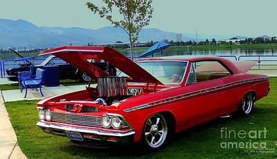 Photograph - Red 66 Chevelle by Bobbee Rickard