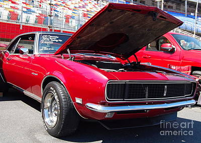 Photograph - red '68 Chevy Camaro by Mark Spearman