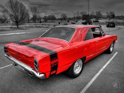 Photograph - Red '69 Dodge Dart Swinger by Lance Vaughn